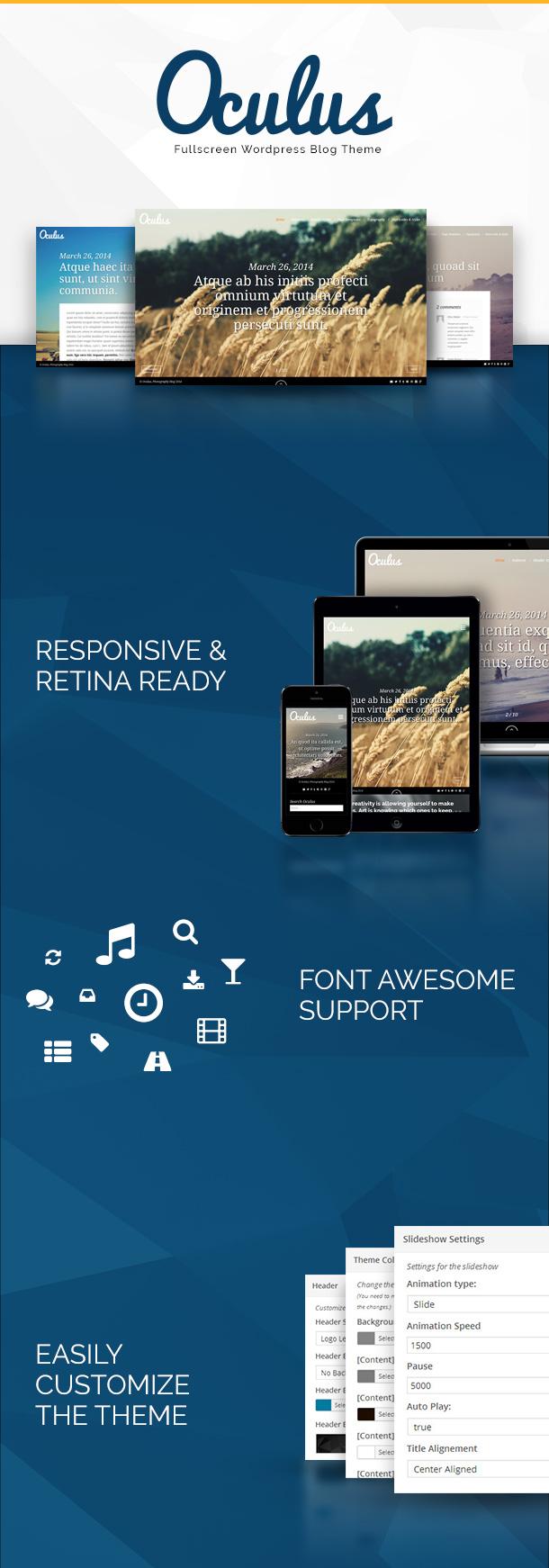 Oculus - Fullscreen Responsive WordPress Blog