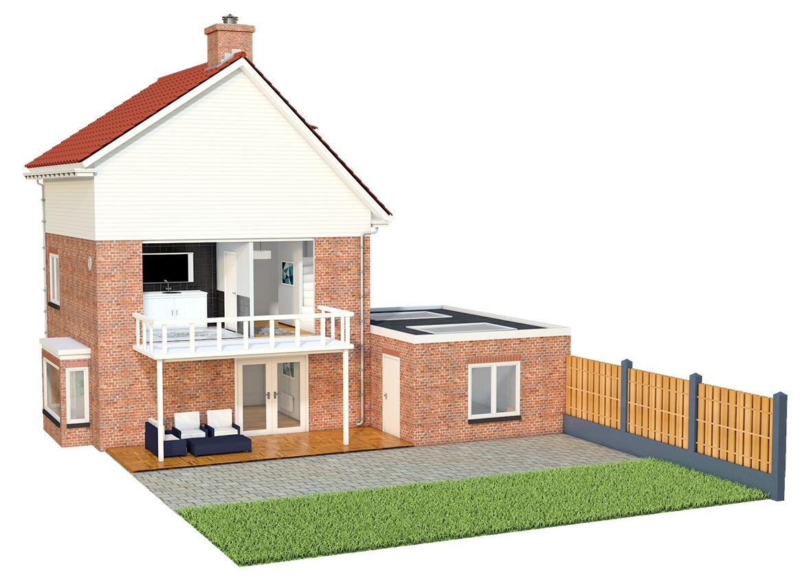 Uw Huismeester, 3D Huis Visualisatie   Luc Versleijen, Freelance Designer