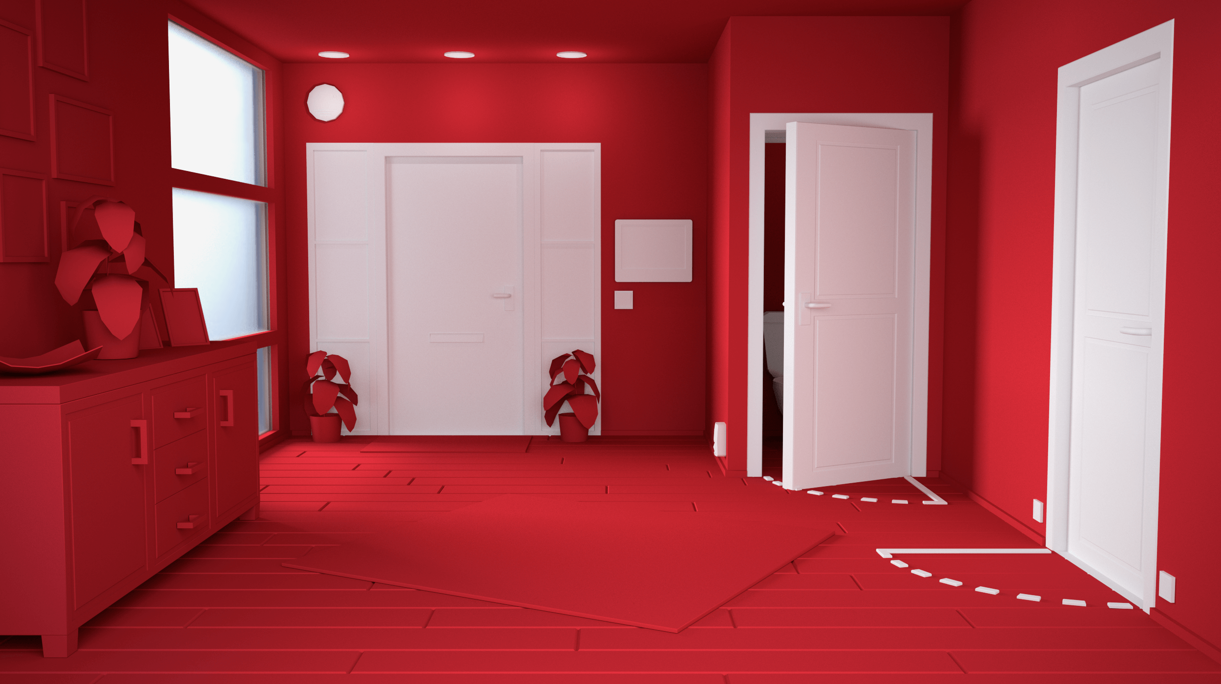 3D Huis Hal