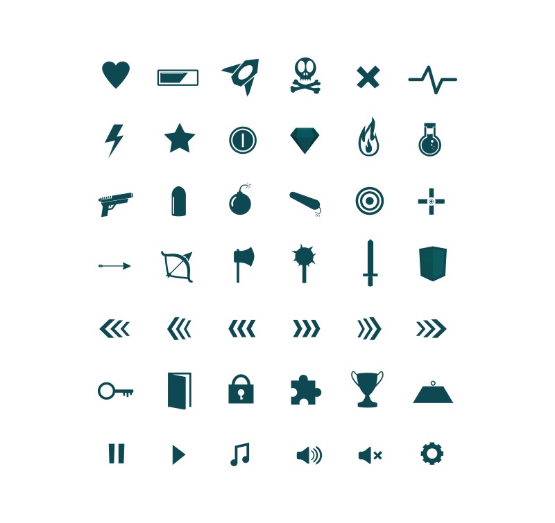 42 Game UI Icons pack | Luc Versleijen, Freelance Designer