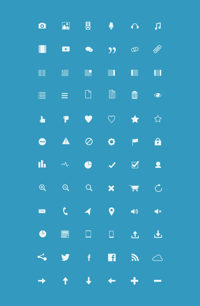 72 Blog Icons Package
