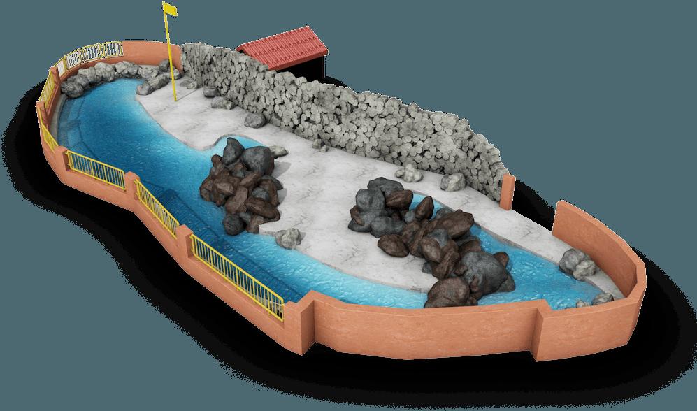 3D Plattegrond dolfinarium