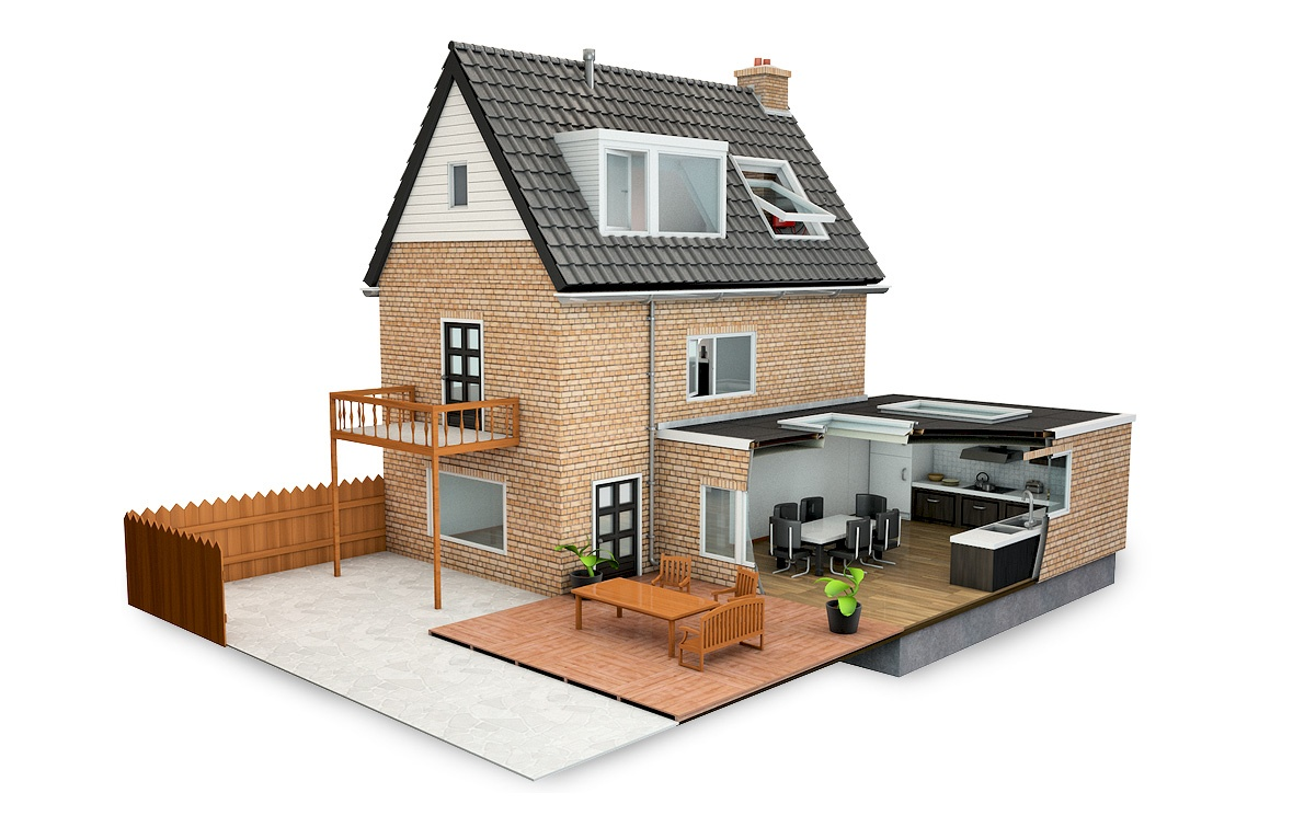 Vereniging eigen huis het gebrekenhuis luc versleijen for Tekenen in 3d