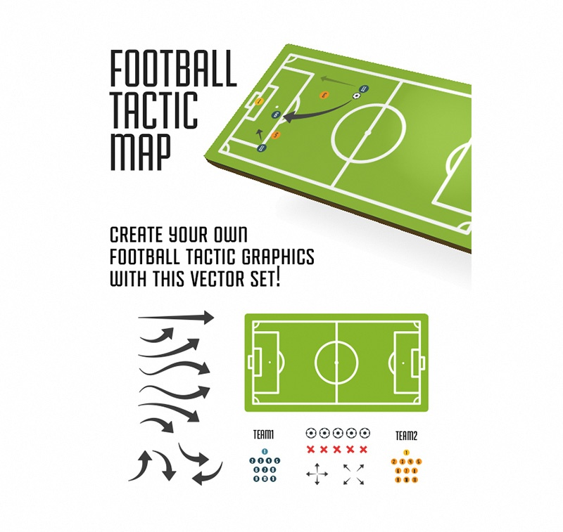 Football Tactical Map Vectors