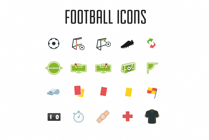 Football Icons Vector Pack