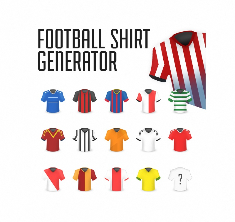 Football Shirt Icon Template