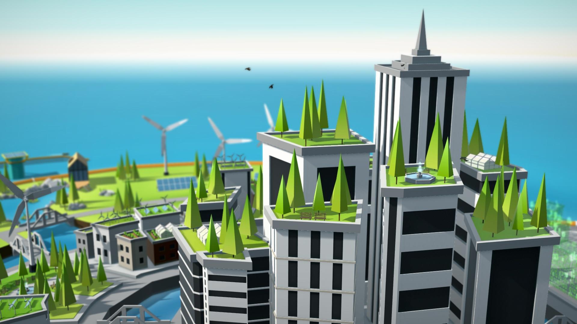 3D Illustratie groene stad