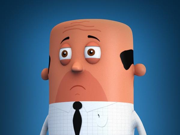 Zakenman, 3D Geprint karakter