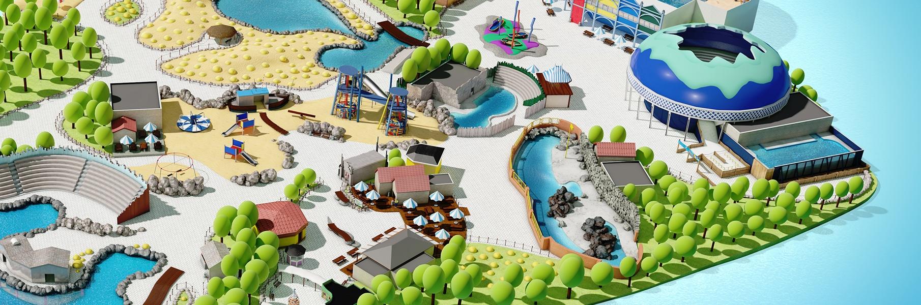 3D Illustratie Plattegrond Dolfinarium