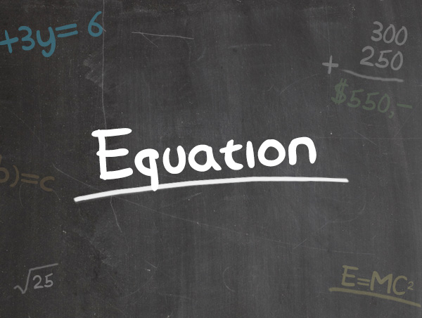 Equation, Handgeschreven Lettertype