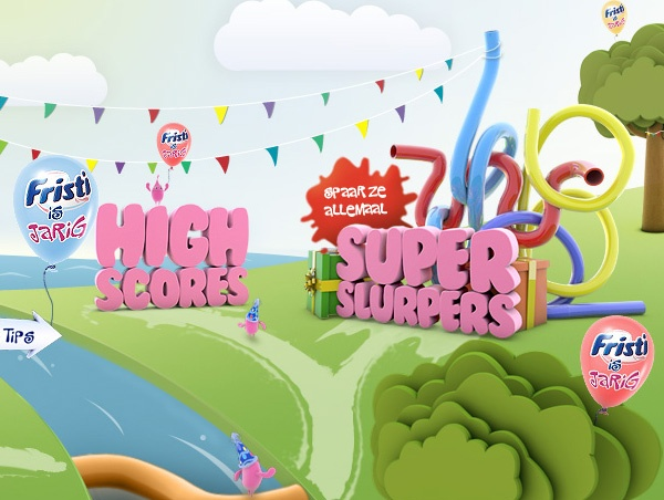 Fristi Superslurpers game & Microsite