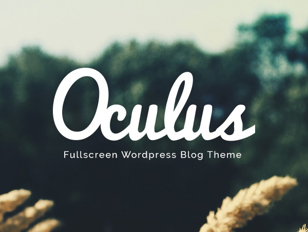 Oculus, Responsive wordpress theme