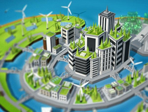 Milieubewuste 3D Wereld