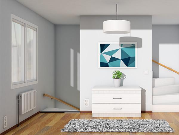 Uw Huismeester, 3D Huis Illustratie
